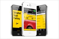 Schiphol valet parking app